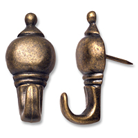 OOK® Designer Antique Brass Push Pin Hangers